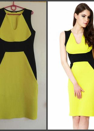 Фактурное платье с красивым вырезом quiz (см.замеры)