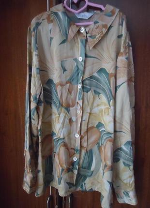 Нежная шелковая блуза, 100% шелк 200818
