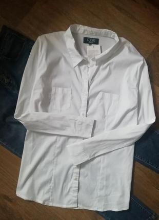 Рубашка оверзайз с карманами, сорочка, блузка, бойфренд