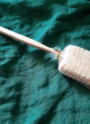 Мочалка на деревянной палочке