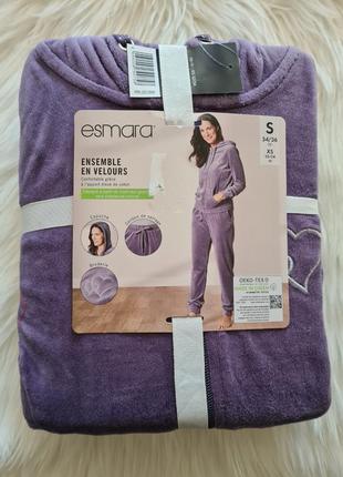 Esmara xs 34 р. велюровый спортивный костюм сиреневый.