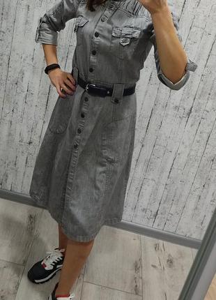 Джинсовое платье миди, тренч vila