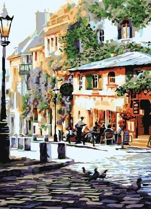 Картины по номерам  уютное кафе 2150