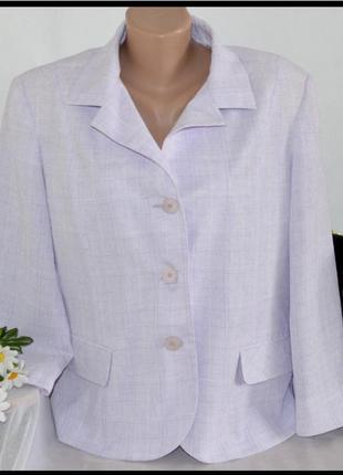 Шикарный брендовый легкий пиджак жакет bonmarche румыния большой размер