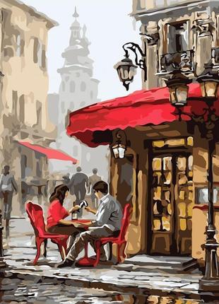 Картины по номерам свидание в кафе 2144