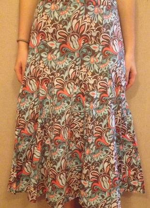 Милая жеская летняя юбка, длинная юбочка
