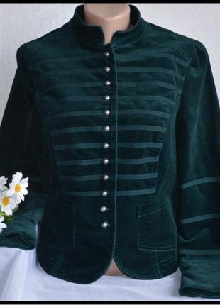 Шикарный брендовый вельветовый пиджак жакет principles
