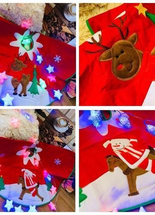 Новогодний коврик-юбка под елочку