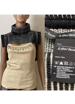 Накидка из шерсти шарф