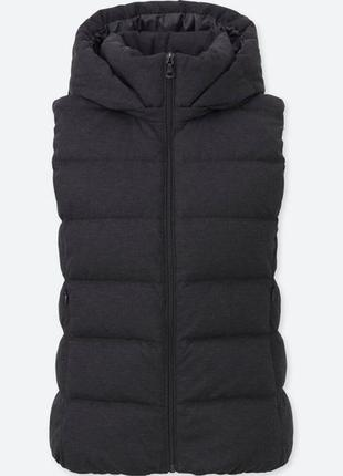 Шерстяная пуховая жилетка uniqlo stretch down vest