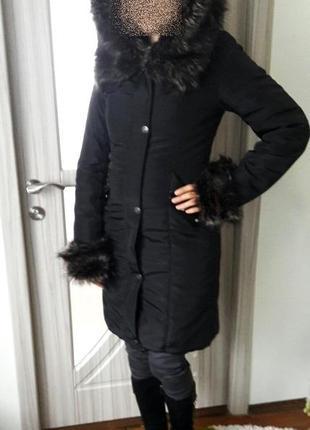 Знижка: супер-теплий зимовий пуховик, розмір 44 (s), майже новий!