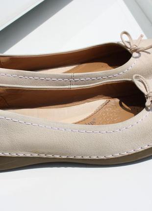 Туфли балетки clarks plus кожа\нубук 38 размер