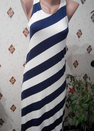 Платье трикотажное с разрезами xs/s