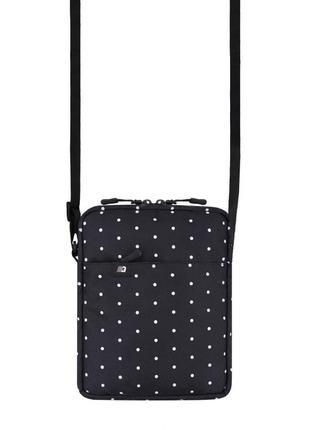 Стильная сумка через плечо в горошек мессенджер