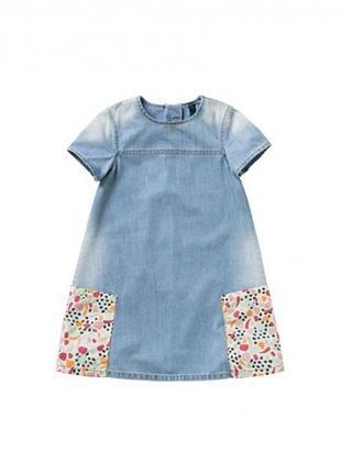 Джинсовое платье benetton 6-7 лет, 120 см.