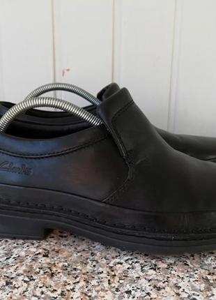 Кожаные туфли фирмы clark