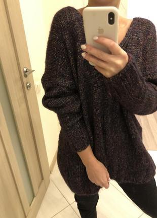 Джампер asos свитер кофта сток мягкая длинная h&m  оверсайз h&m