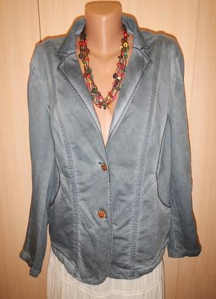 Стильный жакет пиджак cecil p.xl хлопок
