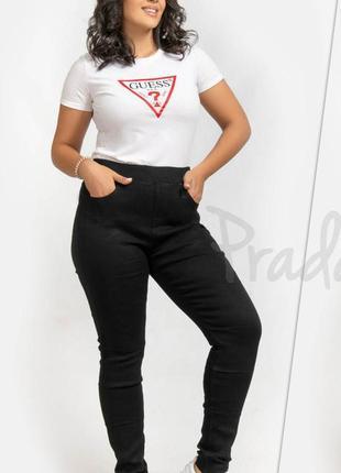 Большой размер! джинсы msmode черные, карманы на молнии, тянутся !!! р. 54-56 (50)