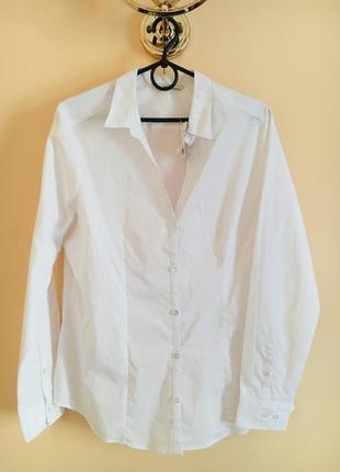 Батал большой размер белая новая блуза блузка рубашка офисная блузочка