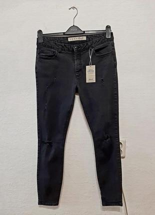 Стильные модные трендовые графитовые джинсы большого размера 14