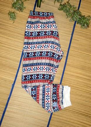 Штаны пижамные теплые для девочки 11-12лет