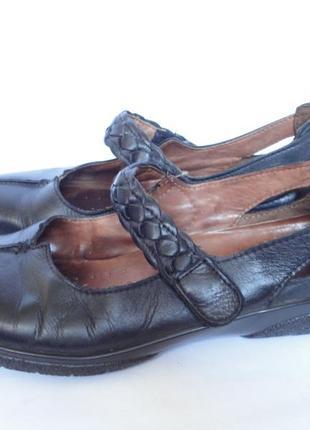 Туфли из натуральной кожи  на широкую ногу р.41