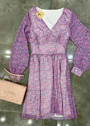 Ivyrevel шифоновое платье в цветочный принт • размер m