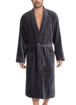 Люкс качество! calida! натуральный хлопок коттон, банный махровый мужской халат, махра.
