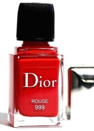Лак для ногтей  christian dior rouge 999