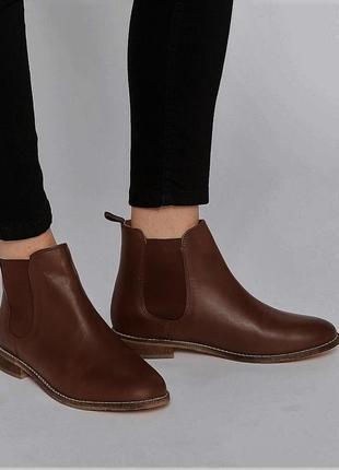 Акция на обувь!!!коричневые ботинки челси броги от atmosphere