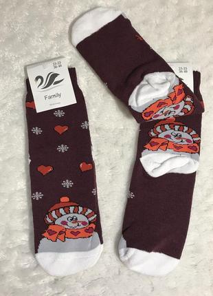 Носочки махровые новый год