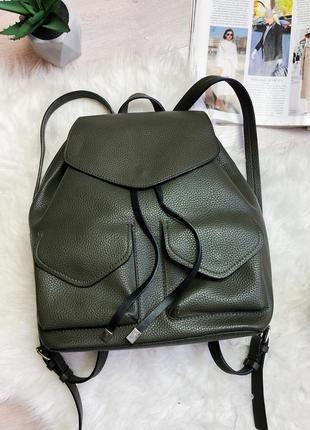 Модный хаки рюкзак zara