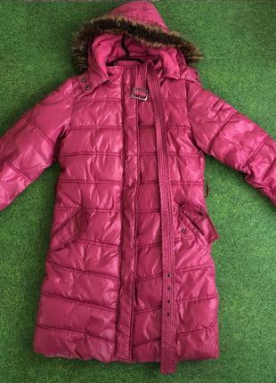 Демисезонная детская длинная куртка