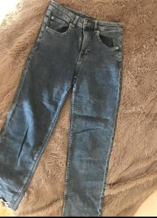 Джинси кльош штани мамс бойфренд завищені висока посадка divided h&m