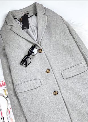 Шикарнейшее топовое стильное удлиненное брендовое пальто оверсайз