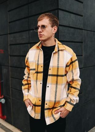 Мужская утепленная, кашемировая, байковая рубашка / чоловіча  кашемірова, байкова сорочка