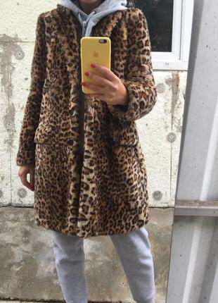 Шубка зара в леопардовый принт
