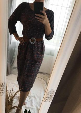 Платье миди в бохо стиле