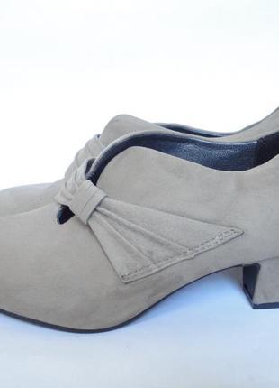 Туфли из натуральной кожи на широкие ножки р.ю38,5