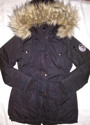 Шикарная зимняя куртка-парка diesel на 12-13лет р.152-158 сост.новой