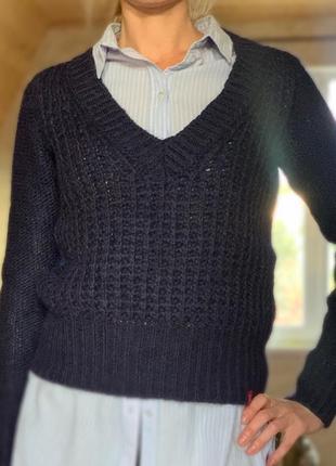 Тёплый свитер крупной вязки esprit