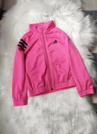 Олімпійка, кофта adidas, кофточка, светр, кофта на замок, розовая, рожева