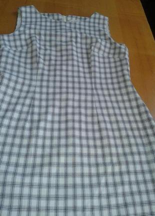Платье,сарафан белое-черное деловое