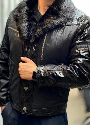 Мужская куртка три сезона. с натуральным мехом!!