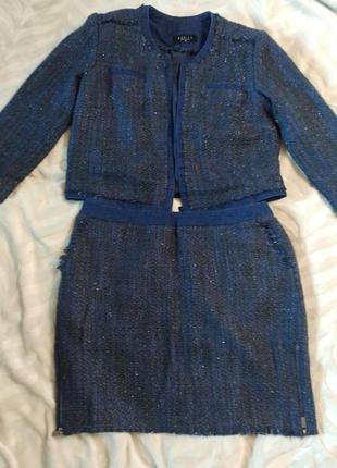 Твидовый костюм moxito в стиле шанель