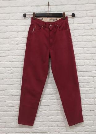 Винтажные мом джинсы слоучи высокая талия