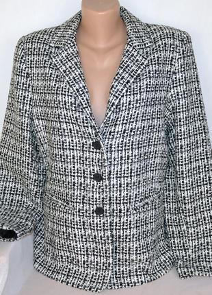 Брендовый пиджак жакет с карманами michelle акрил этикетка