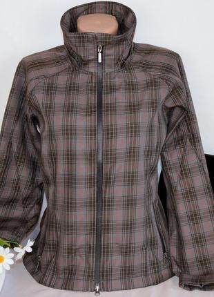Брендовая легкая тонкая куртка жакет на молнии с карманами в клетку jacson