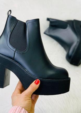 Крутые ботиночки черные stilli эко кожа